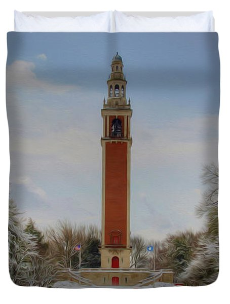 Winter At The Carillon Duvet Cover