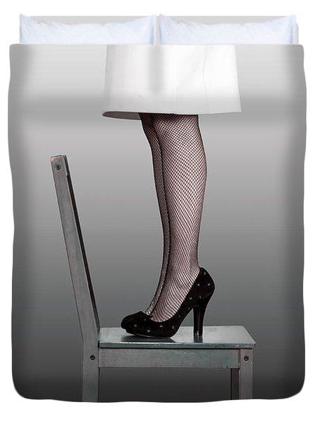 Woman On Chair Duvet Cover by Joana Kruse
