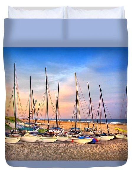 41st Street Sailing Beach Duvet Cover