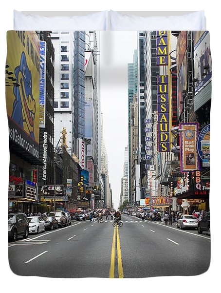 42nd Street - New York Duvet Cover