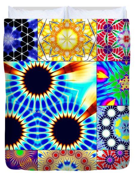 432hz Cymatics Grid Duvet Cover