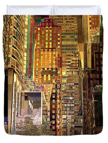 45th Street Redux Duvet Cover by Miriam Danar