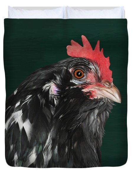 47. Bearded Hen Duvet Cover