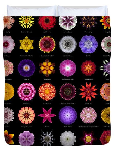 48 Flower Mandalas Duvet Cover