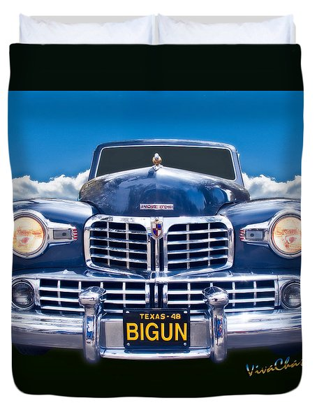 48 Lincoln Continental Grille On Bigun Duvet Cover