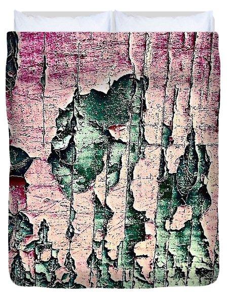 Flaky Paint Duvet Cover by Jason Michael Roust