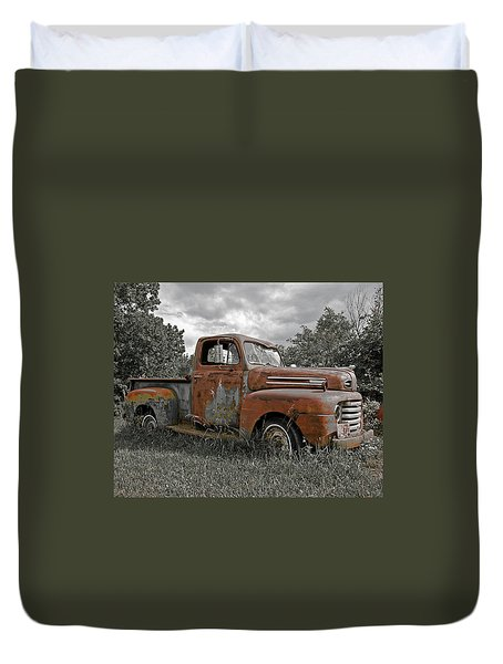 Duvet Cover featuring the photograph '49 Ford Pick-up by Christopher McKenzie