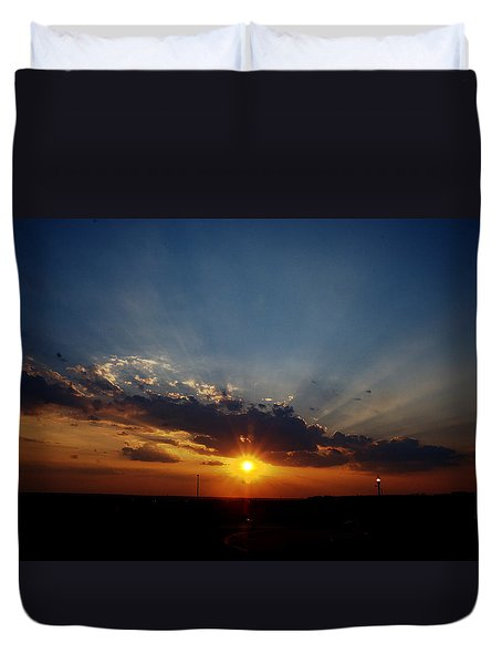 4th July Sunset 2013 Duvet Cover
