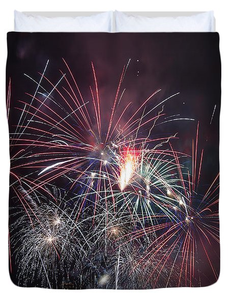 4th Of July Fireworks Portland Oregon 2013 Duvet Cover