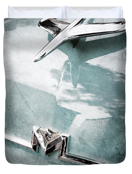 1956 Mercury Monterey Hood Ornament - Emblem Duvet Cover