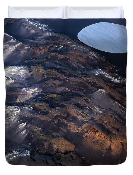 Duvet Cover featuring the photograph Aerial Photography by Gunnar Orn Arnason