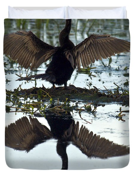 Anhinga Duvet Cover by Mark Newman