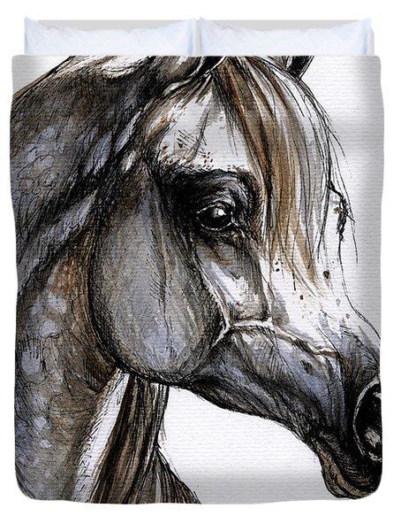 Arabian Horse Duvet Cover by Angel  Tarantella