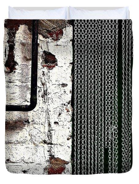 Chain Door Duvet Cover by Jason Michael Roust