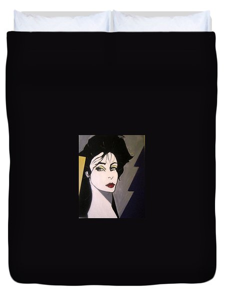 Duvet Cover featuring the painting Art Deco by Nora Shepley