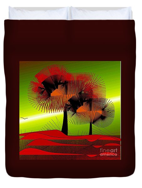 Duvet Cover featuring the digital art Autumn Colours by Iris Gelbart