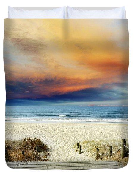 Beach View Duvet Cover by Les Cunliffe