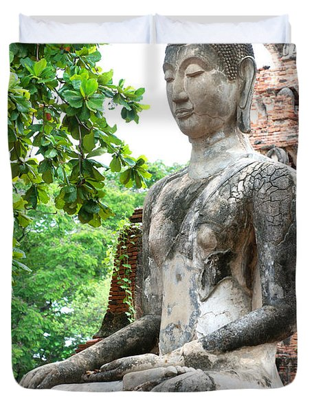 Buddha Statue Duvet Cover