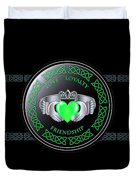 Celtic Claddagh Ring  Duvet Cover
