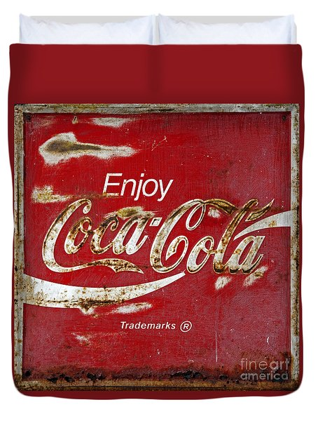 Coca Cola Vintage Rusty Sign Duvet Cover