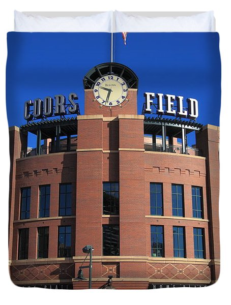 Coors Field - Colorado Rockies Duvet Cover by Frank Romeo
