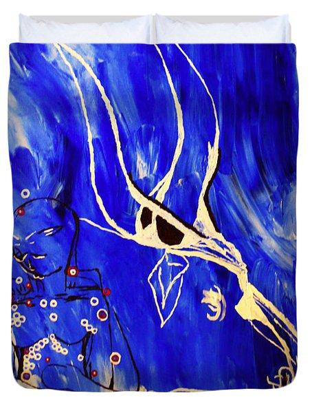 Dinka Livelihood - South Sudan Duvet Cover by Gloria Ssali