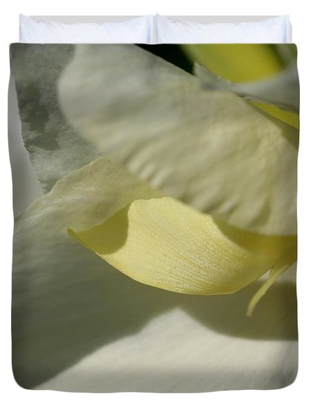 Dwarf Canna Lily Named Ermine Duvet Cover by J McCombie