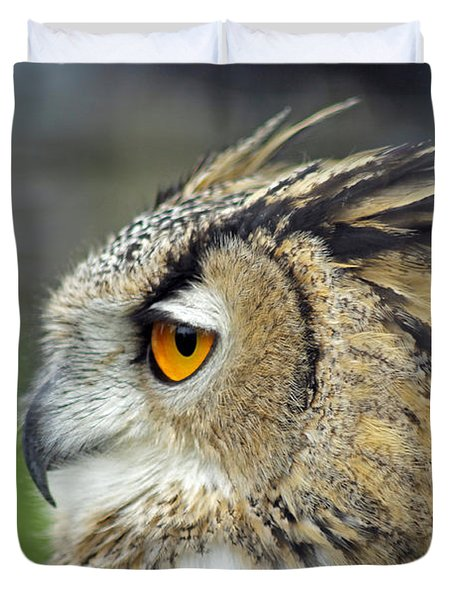 European Eagle Owl Duvet Cover