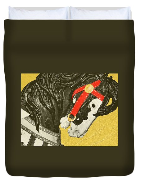 Fiery Stallion Duvet Cover by JAMART Photography