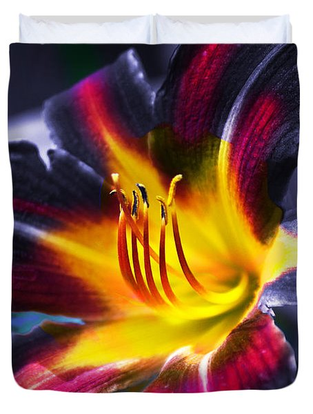 Flower Burst Duvet Cover by Gunter Nezhoda