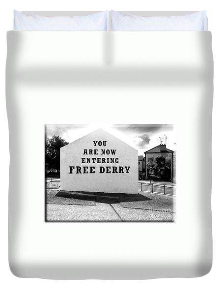 Free Derry Corner 5 Duvet Cover