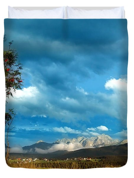 Mountains Landscape Duvet Cover by Michal Bednarek