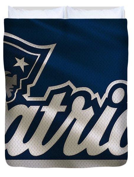 New England Patriots Uniform Duvet Cover