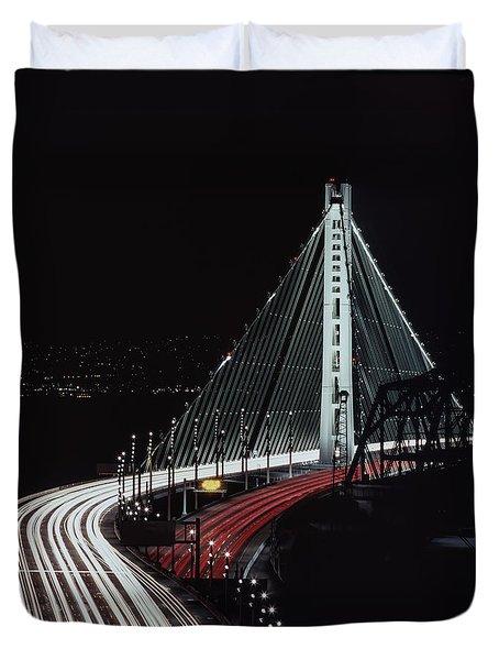 Oakland Bridge Duvet Cover