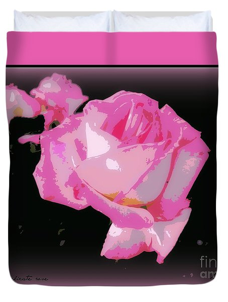 Duvet Cover featuring the photograph Pink Rose by Leanne Seymour