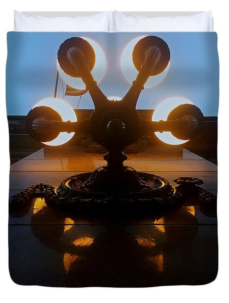 Duvet Cover featuring the photograph 5 Points Of Light by James Aiken