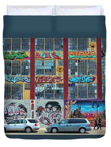 5 Pointz Graffiti Art 10 Duvet Cover