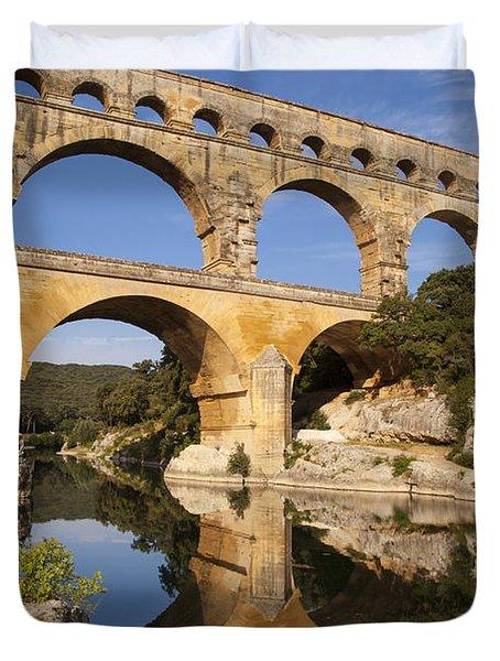 Pont Du Gard Duvet Cover by Brian Jannsen