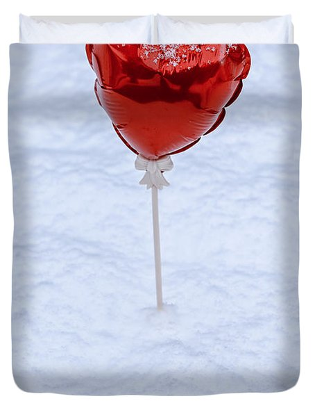 Red Balloon Duvet Cover by Joana Kruse