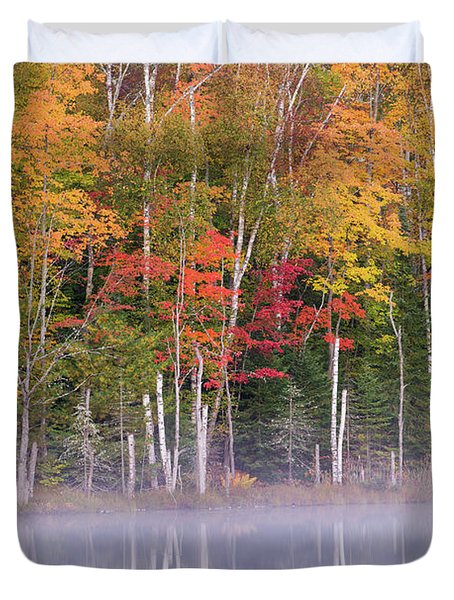 Reflection Of Trees In A Lake Duvet Cover