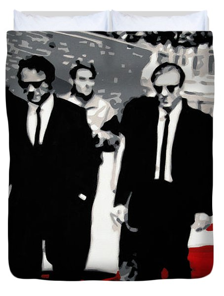 Reservoir Dogs Duvet Cover by Luis Ludzska