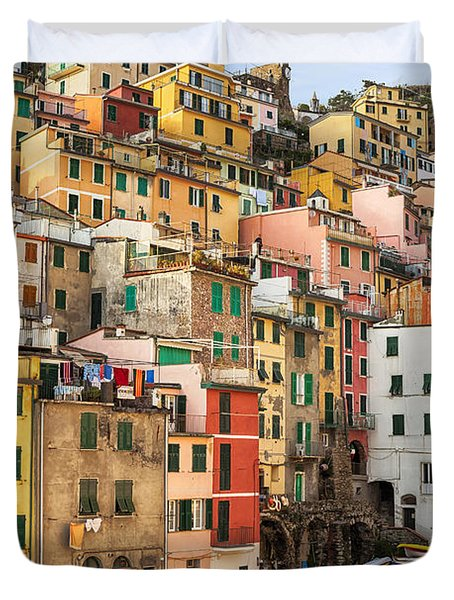 Riomaggiore Duvet Cover by Joana Kruse