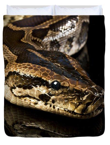 Duvet Cover featuring the photograph Snake by Gunnar Orn Arnason