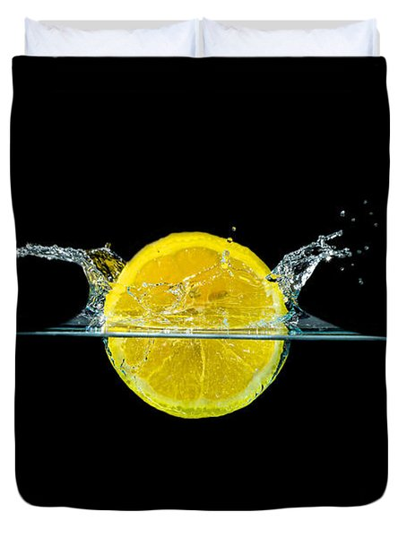 Splashing Lemon Duvet Cover