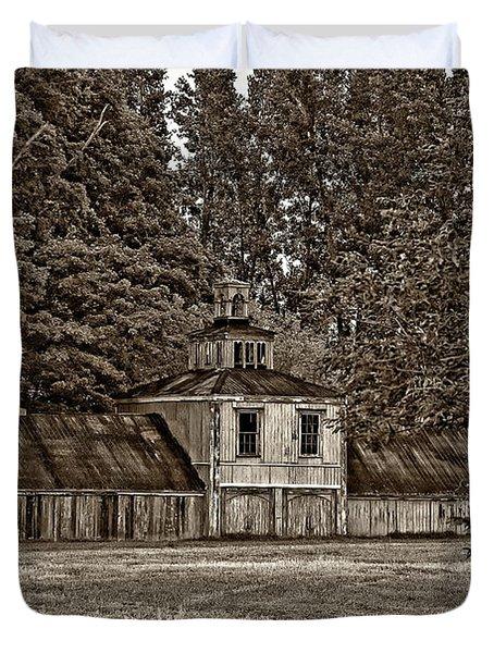 5 Star Barn Monochrome Duvet Cover by Steve Harrington