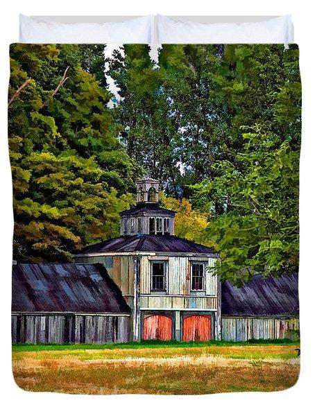 5 Star Barn Paint Filter Duvet Cover by Steve Harrington