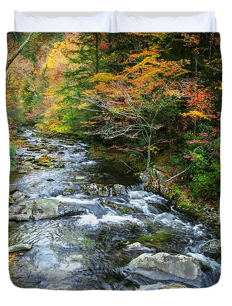 Stream Great Smoky Mountains Painted Duvet Cover