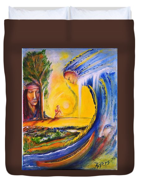The Island Of Man Duvet Cover by Kicking Bear  Productions