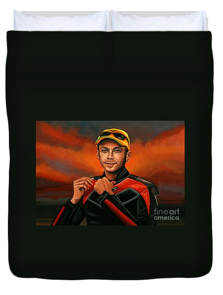 Valentino Rossi  Duvet Cover by Paul Meijering