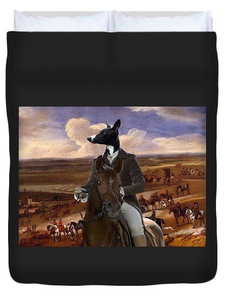 Whippet  Art Canvas Print Duvet Cover